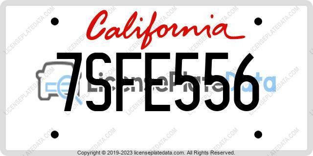 7SFE556, California
